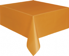 "Orange Rectangular Tablecover 54"" x 108""/ 137cm x 274cm"